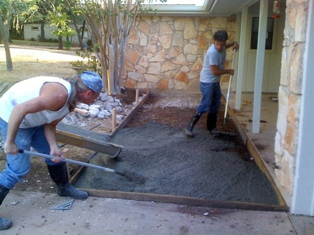 Superior How To Pour Concrete Patio Slab Designs